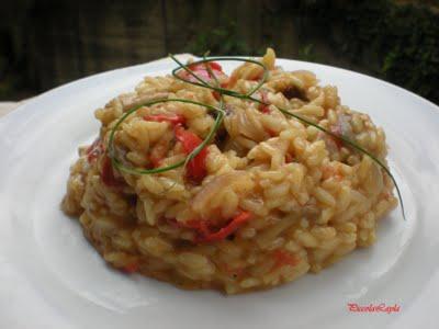 Risotto ai funghi misti e curry