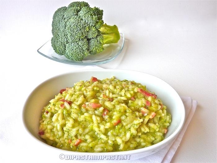 Risotto con broccolo siciliano e speck