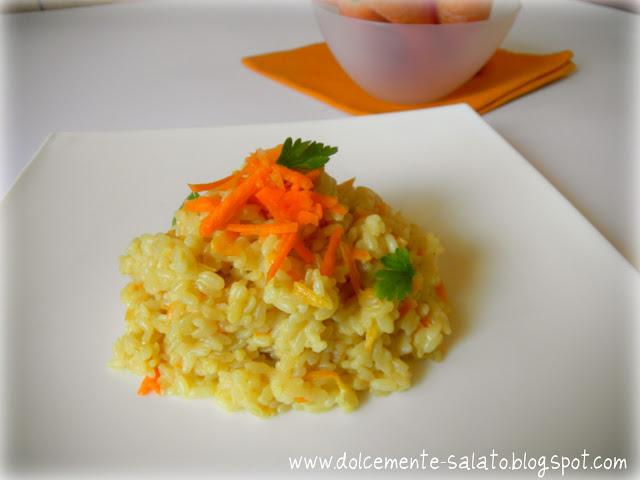Risotto con carote e mascarpone