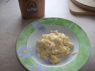 Risotto di Patate in crema al Salmone