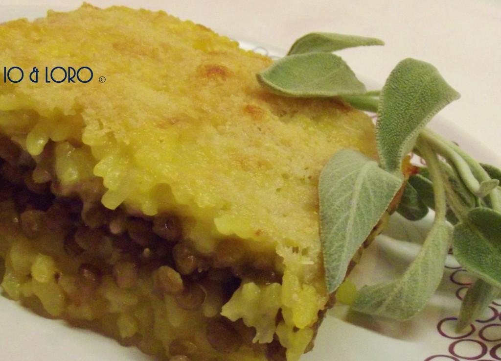 Timballo di riso alle lenticchie